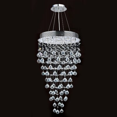 Leiker 9-Light Crystal Chandelier Diameter: 20