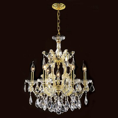 Maria Theresa 7-Light Crystal Chandelier Finish: Gold