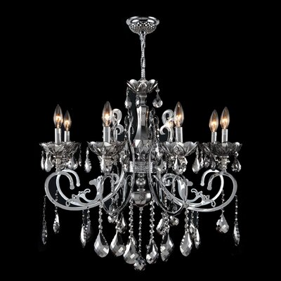 Koome 8-Light Crystal Chandelier Crystal Color: Chrome