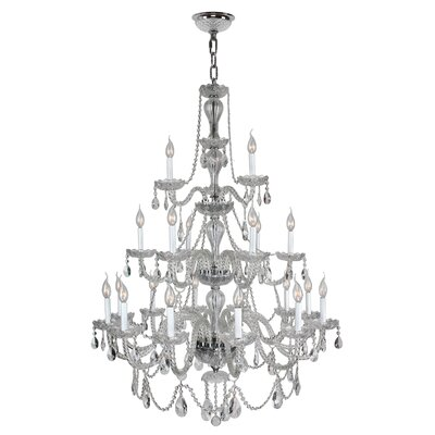 Pulaski 21-Light Crystal Chandelier Color: Chrome