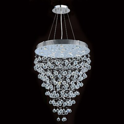 Icicle 13-Light Crystal Chandelier