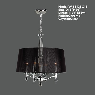 Roni Contemporary 4-Light Shaded Chandelier