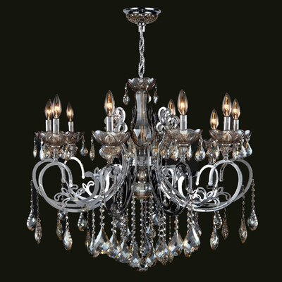 Kronos 10-Light Crystal Chandelier Crystal Color: Golden Teak