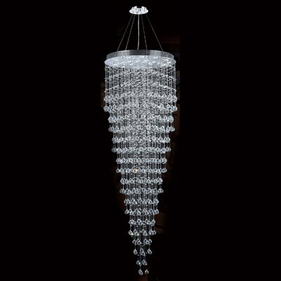 Icicle 16-Light Crystal Chandelier Size: 96 H x 32 W
