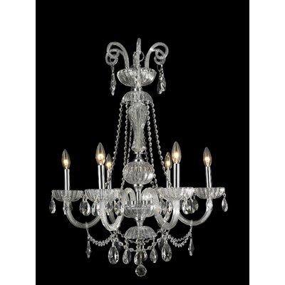Carnivale 6-Light Crystal Chandelier Crystal Color: Clear