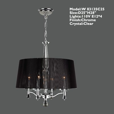 Roni 4-Light Shaded Chandelier