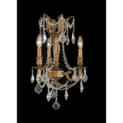 Radtke Traditional 3-Light Crystal Chandelier