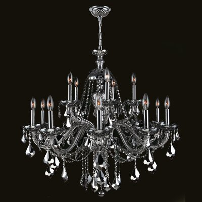 Doggett 15-Light Crystal Chandelier Crystal Color: Chrome