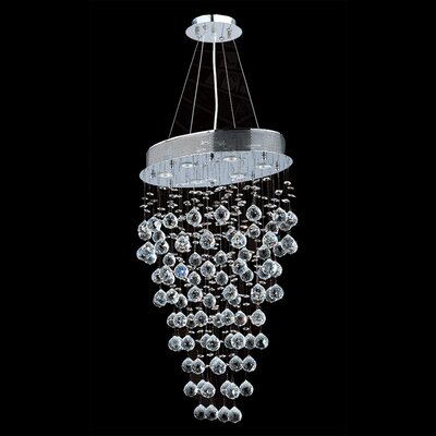 Leiker 6-Light Crystal Chandelier