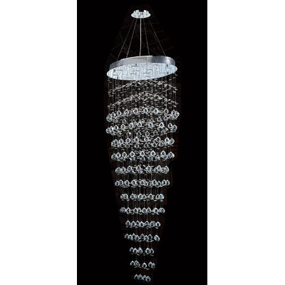 Icicle 12-Light Crystal Chandelier Size: 72 H x 20 W