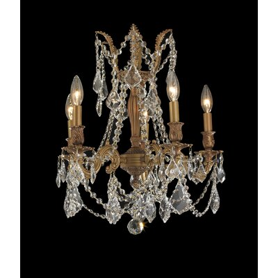 Radtke Traditional 5-Light Crystal Chandelier