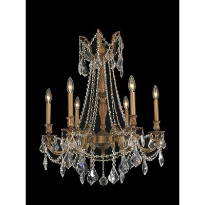 Radtke Traditional 6-Light Crystal Chandelier
