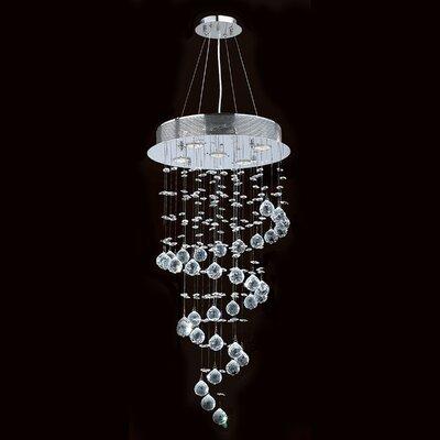 Worldwide Lighting Helix 5 Light Crystal Chandelier
