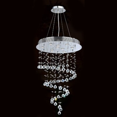 Helix 10-Light Waterfall Chandelier Size: 36 H x 24 W