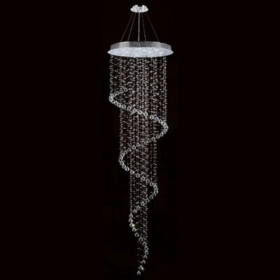 Helix 12-Light Crystal Chandelier