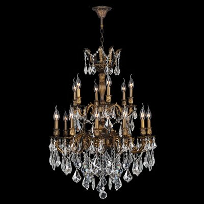 Dodson Traditional 18-Light Crystal Chandelier Size: 38 H x 27 W