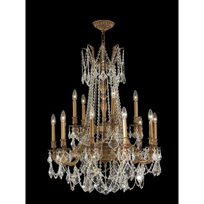 Radtke Traditional 15-Light Crystal Chandelier