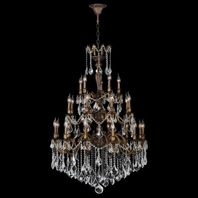 Versailles 25-Light  Crystal Chandelier Finish: Antique Bronze