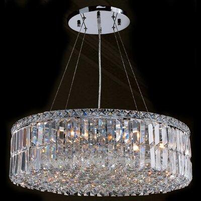 Cascade 12-Light Crystal Chandelier Size: 7.5 H x 24 W