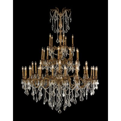 Radtke Traditional 45-Light Crystal Chandelier