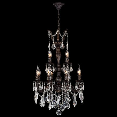 Dodson 12-Light Adjustable Crystal Chandelier