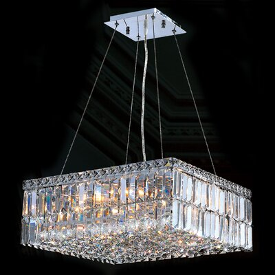 "Worldwide Lighting Cascade 12 Light Crystal Chandelier - Size: 7.5"" H x 20"" W at Sears.com"