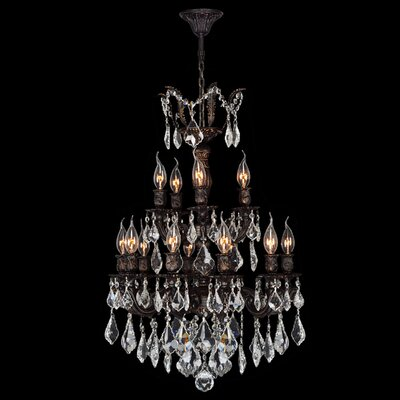 Dodson Traditional 15-Light Crystal Chandelier