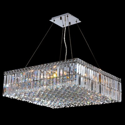 "Worldwide Lighting Cascade 12 Light Crystal Chandelier - Size: 7.5"" H x 24"" W at Sears.com"