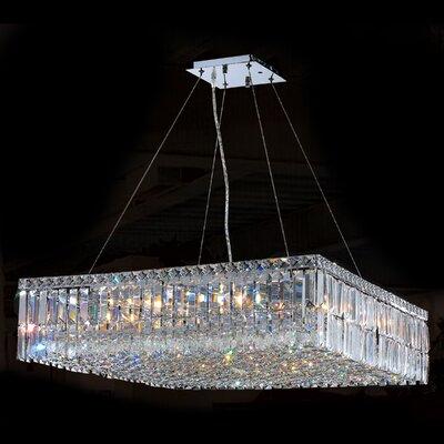 Cascade 12-Light Crystal Chandelier Size: 7.5 H x 28 L x 28 W