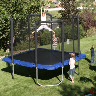 Ll Bout Trampoline Skywalker 13 Ft Square Blue Backyard