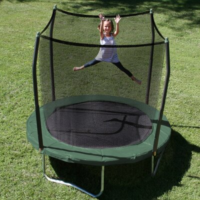 Skywalker 8' Round Trampoline with Safety Enclosure - Pad Color: Green at Sears.com
