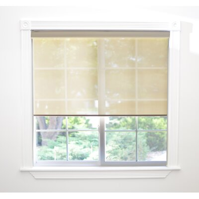 Interior Motorized Roller Shade Size: 34 W x 72 L x 3 D, Color: Light Brown