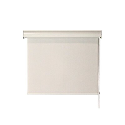 Interior Corded Valanced Solar Shade Color: Cream, Size: 23 W x 72 L