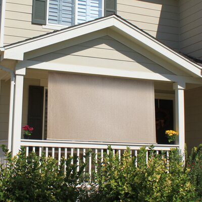 Outdoor Solar Shade Blind Size: 72 W x 72 L, Color: Monterey