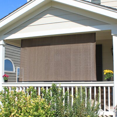 Outdoor Solar Shade Blind Size: 96 W x 72 L, Color: Cabo Sand