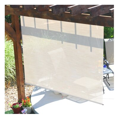 Heavy Duty Semi-Sheer Outdoor Solar Shade Size: 120 W x 96L, Color: Maui