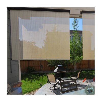 Heavy Duty Semi-Sheer Outdoor Solar Shade Size: 72 W x 96L, Color: Tropic