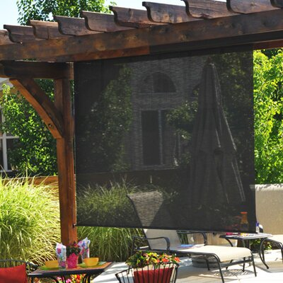 Heavy Duty Semi-Sheer Outdoor Solar Shade Size: 120 W x 96L, Color: Kona