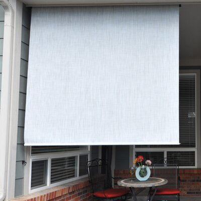 Heavy Duty Semi-Sheer Outdoor Solar Shade Size: 96 W x 96L, Color: Caribbean