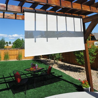 Heavy Duty Semi-Sheer Outdoor Solar Shade Size: 72 W X 96 L, Color: Maui