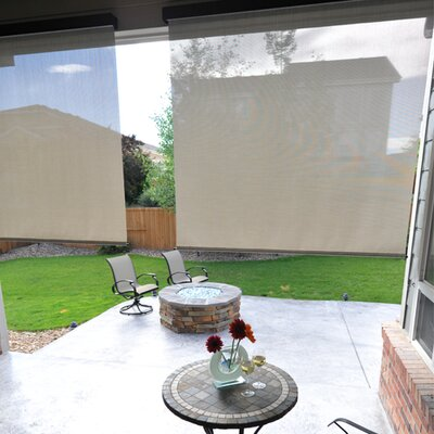 Heavy Duty Semi-Sheer Outdoor Solar Shade Size: 72 W X 96 L, Color: Caribbean