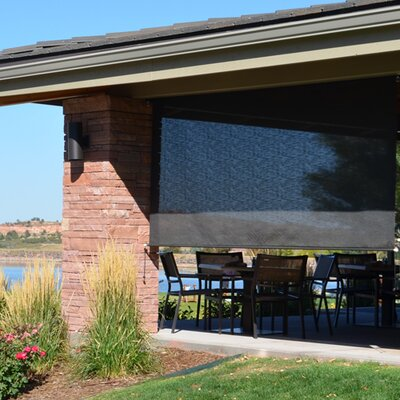 Heavy Duty Semi-Sheer Outdoor Solar Shade Size: 120 W X 96 L, Color: Kona