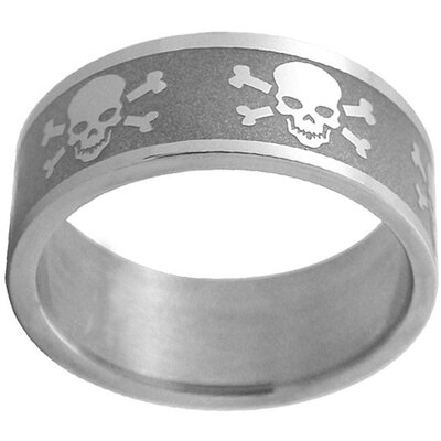 Trendbox Jewelry Skulls and Crossbones Band Ring - Size: 12.5 at Sears.com