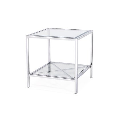 Gardner End Table Color: Silver