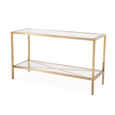 Gardner Console Table Finish: Antique Gold