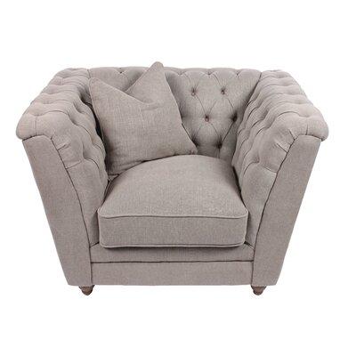 Kensington Chesterfield Chair Color: Gray