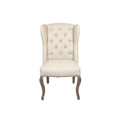 Kensington Wingback Chair Color: Cream