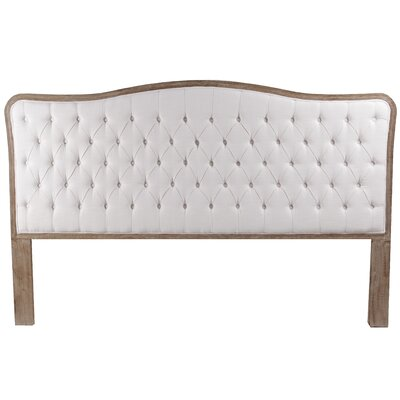 Bardot Upholstered Panel Headboard Finish: Brown, Size: King, Upholstery: Ivory