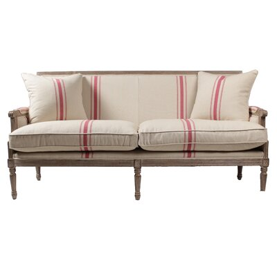 Lafontaine Sofa Upholstery: Beige/Red