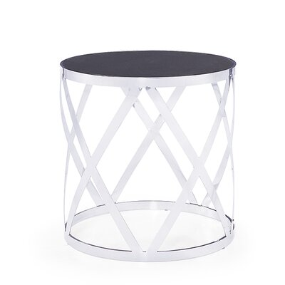Tribeca End Table Table Top Color: Charcoal